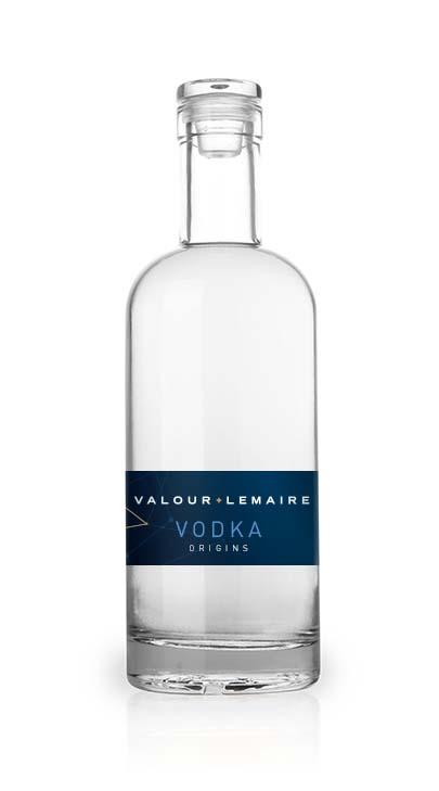Bouteille Vodka Origins Valour+Lemaire